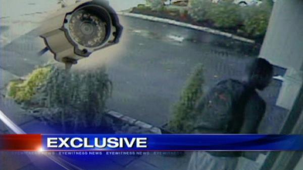 Burglary suspect caught on home surveillance cam