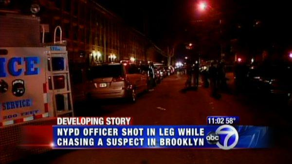 NYPD officer shot in leg in East New York