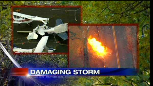 High winds cause damage in Scotch Plains