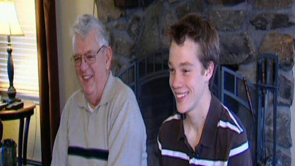 Teen, grandfather rescued by text messages