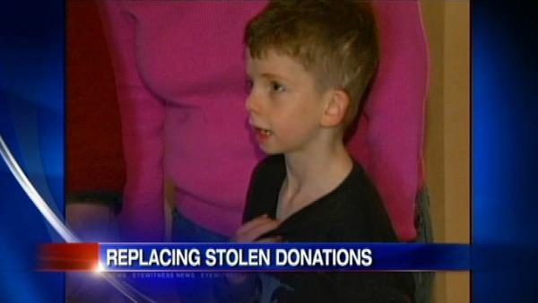 Large donation after thief steals boy's surgey money