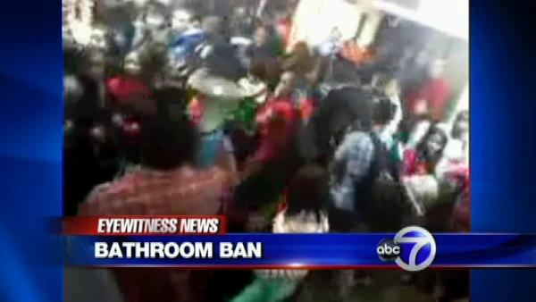 Bathroom ban sparks near riot at school