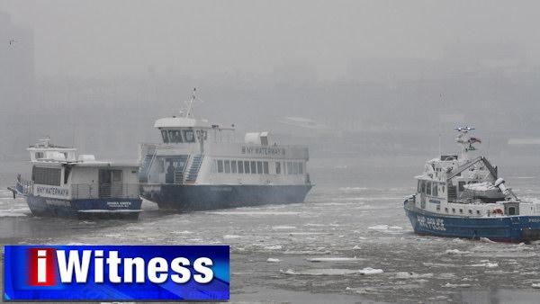 Smoke condition on NY Waterway ferry