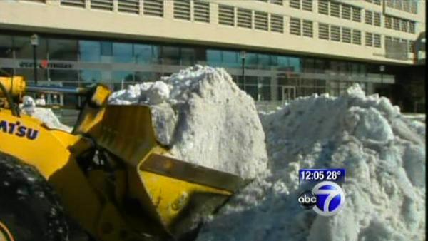 Snow clean up continues in Jersey City