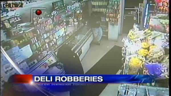 LI string of deli robberies