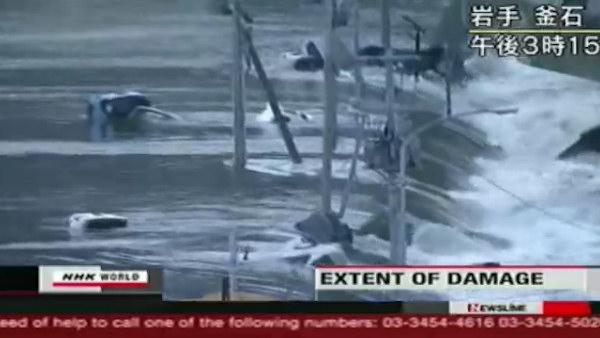 More video of tsunami in Japan