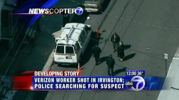 Verizon worker shot in Irvington