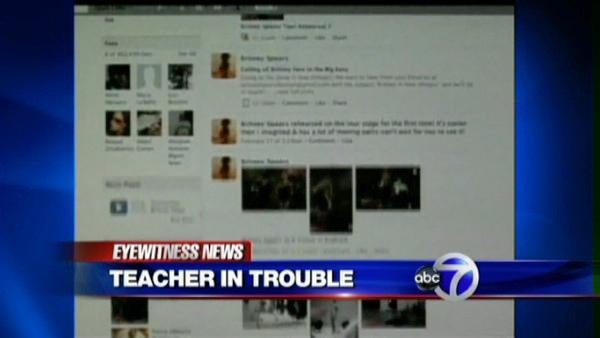 Teacher suspended over Facebook posts