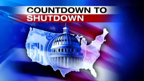 Countdown clock to government shutdown