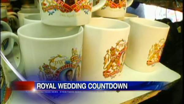 Royal memorabilia takes over London vendors