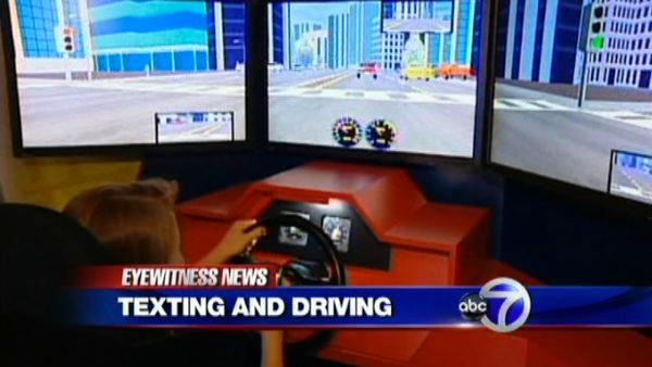 Texting while driving simulator to teach teens