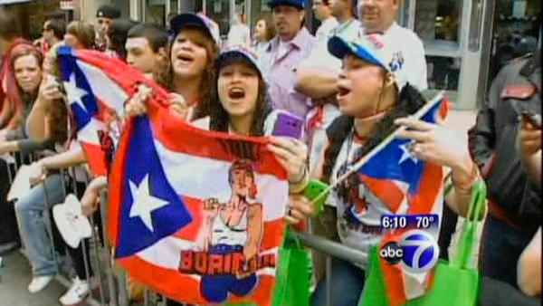 Huge crowd for Puerto Rican parade