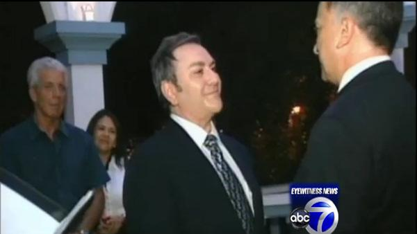 Same-sex couple exchanges vows at midnight