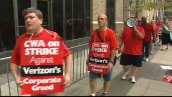 Contract dispute leads to Verizon strike