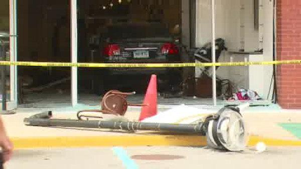 92-year-old driver crashes into store