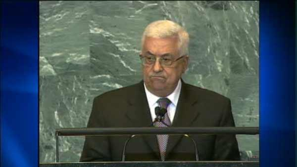 Appeal for state hood by Abbas in U.N. speech