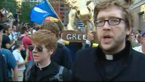 Local religious leaders join Wall Street protest