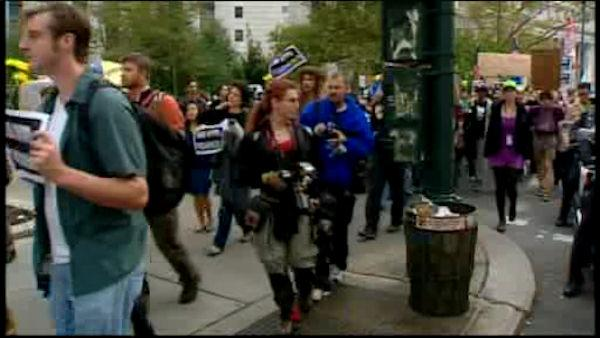 Occupy Wall Street marches to Lincoln Center
