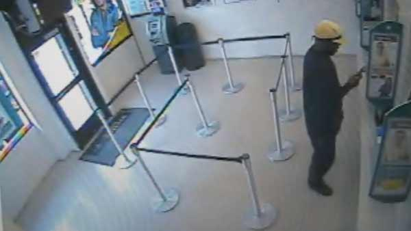 Surveillance video of attempted bank robbery