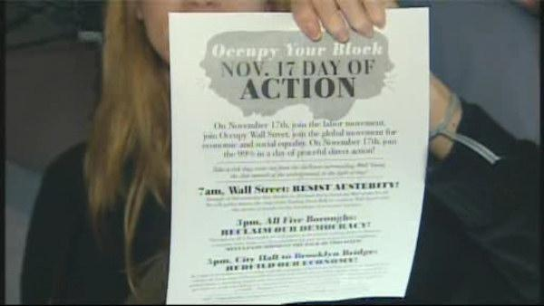 2-month anniversary of Occupy Wall Street Thursday