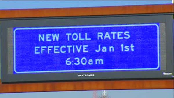 Parkway in Turnpike toll increases begin Jan. 1