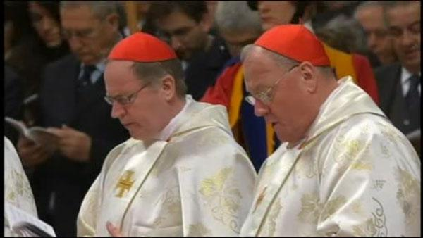 Cardinal Dolan attends Papal Mass