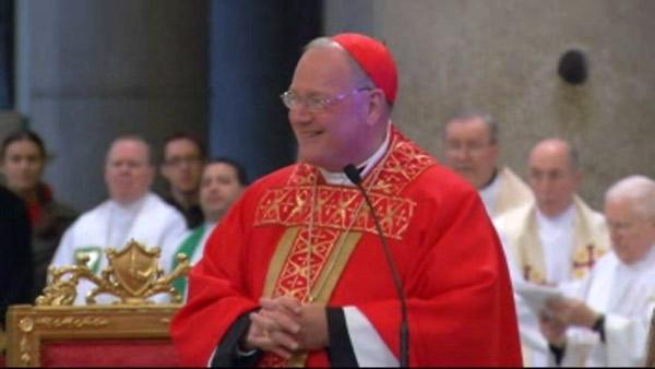 Newly ordained Timothy Dolan celebrates first mass as Cardinal
