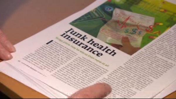 Consumer Reports: Junk health insurance caution