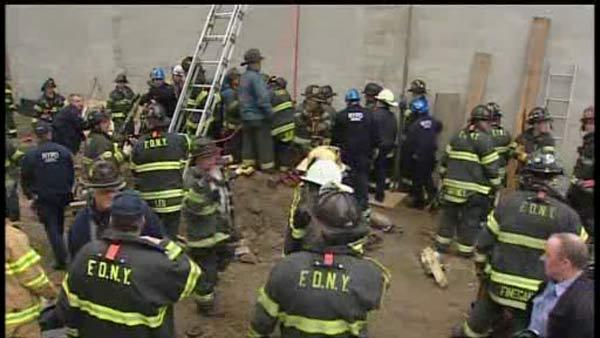 Worker rescued after trench collapse