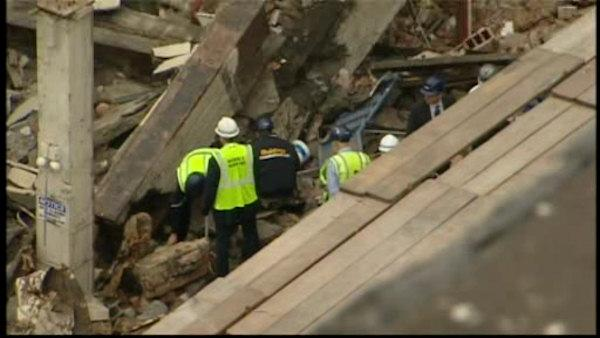 One killed and two hurt in building collapse