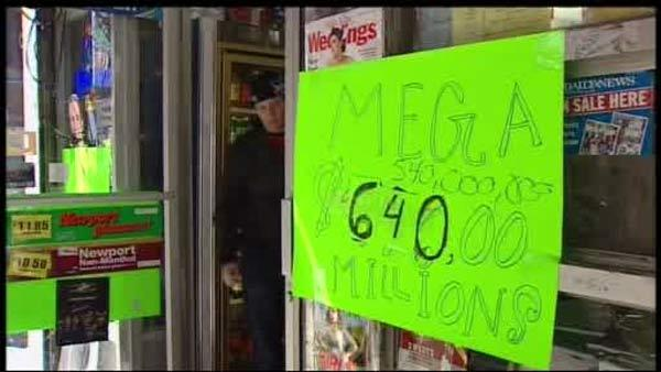 People line up for Mega Millions mania