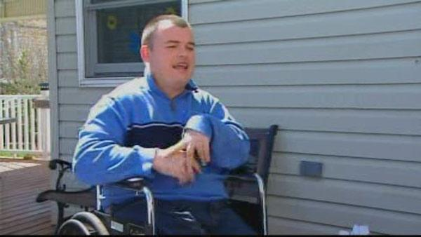 Thief steals wheelchair of man with cerebral palsy