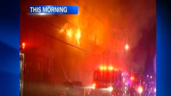 A fire destroys at least 10 homes in Jersey City