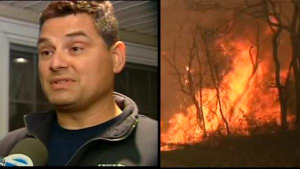 Exclusive: Firefighter runs through wildfire to survive
