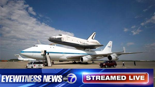 Shuttle Enterprise arrives in New York City