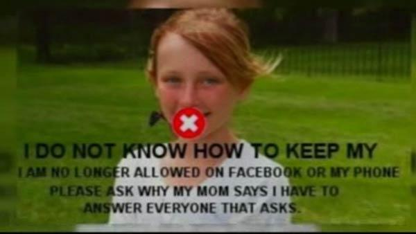 A mom uses Facebook to punish her teen
