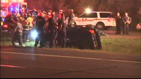 Police chase ends in crash on Long Island