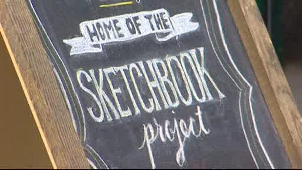 Thousand of sketchbooks serving as art