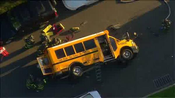 Kids injured after school bus accident in Queens