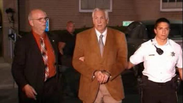 RAW VIDEO: Jerry Sandusky led out of courthouse