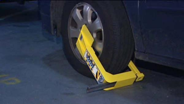 Wheel boot program launches for parking ticket offenders