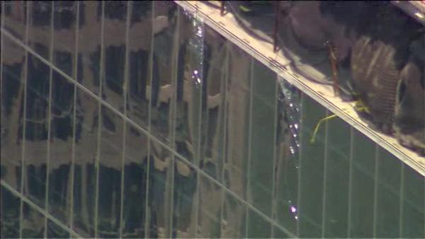 Falling debris causes World Trade Center Memorial to temp. close