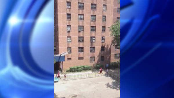 GRAPHIC VIDEO WARNING: Video of child falling out of 3rd floor window