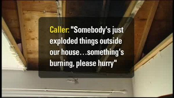 911 calls released in home firebombing