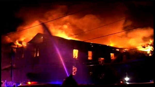 Deadly fire rages through Newark buildings