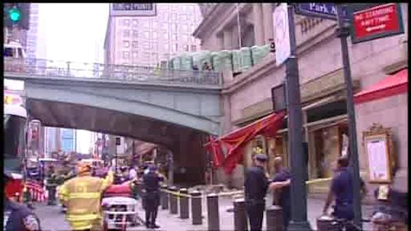 Truck involved in accident outside Grand Central