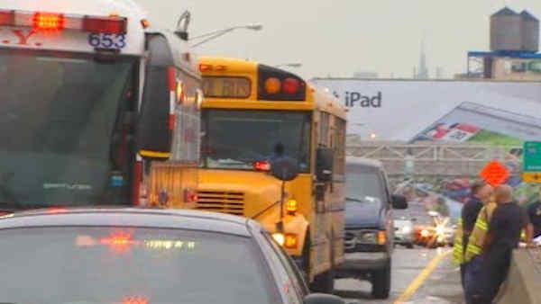 Several injured in Bronx school bus accident