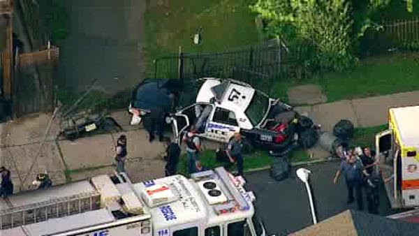Cop injured after Newark car chase