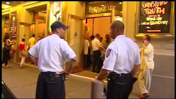 Heightened security outside Mike Tyson's Broadway show