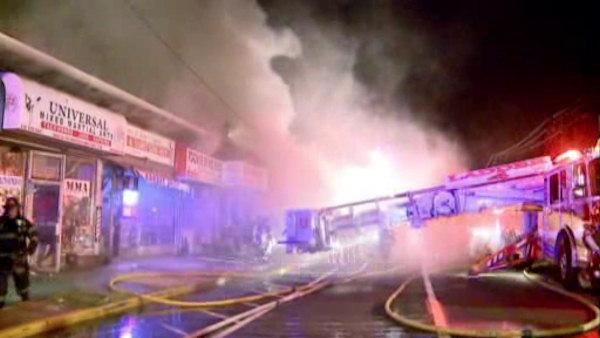 Strip mall fire burns 6 stores